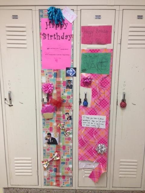 Locker Decorations For Birthdays Inside