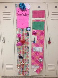 No one decorated my locker in the sixth grade!