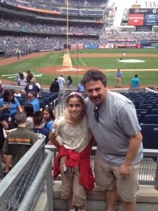 This is one of my favorite photos of Noodge 2 and her dad at Yankee Stadium.
