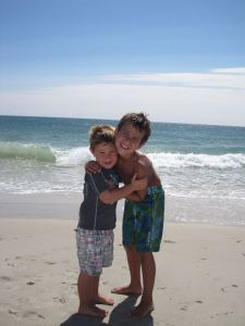 Beach picture of the boys